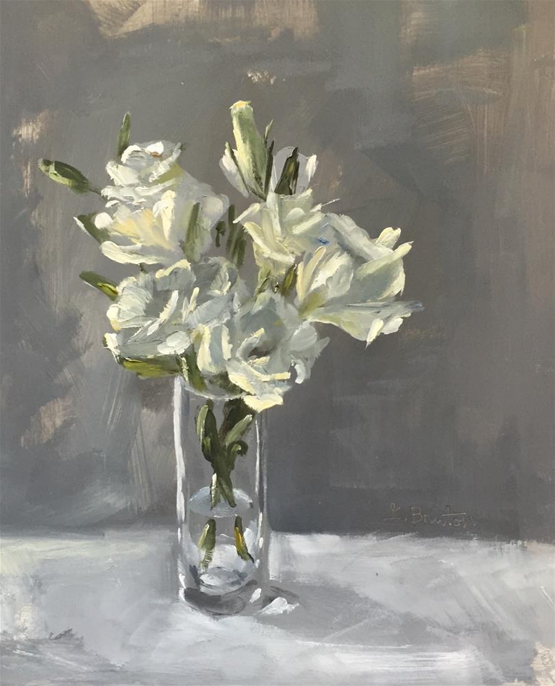 """Lisianthus"" original fine art by Gary Bruton"