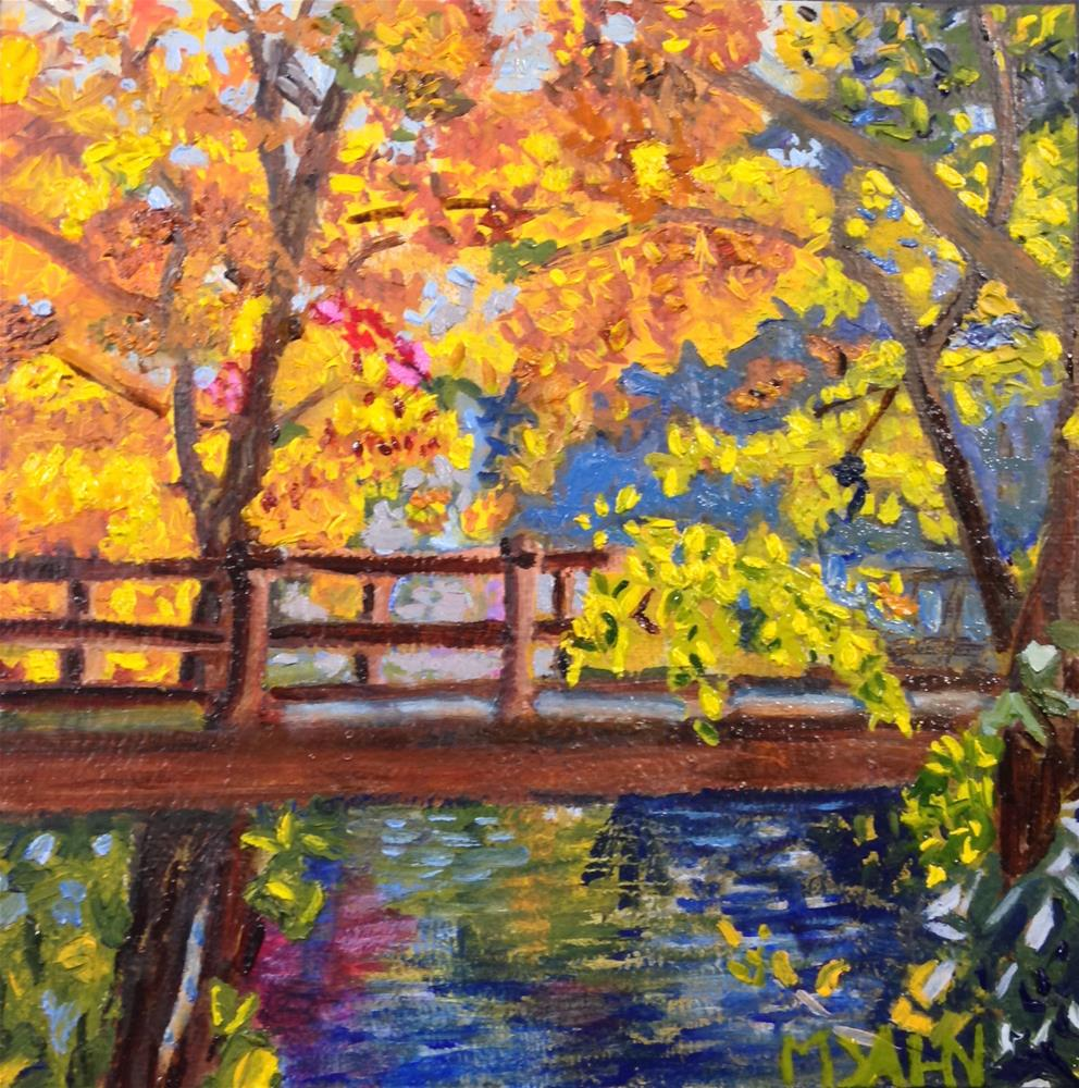 """autumn creek"" original fine art by Mary Dahn"