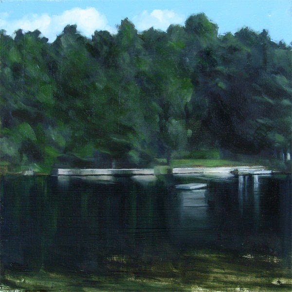 """View Across Lake Monomanoc, New Hampshire (no.74)"" original fine art by Michael William"