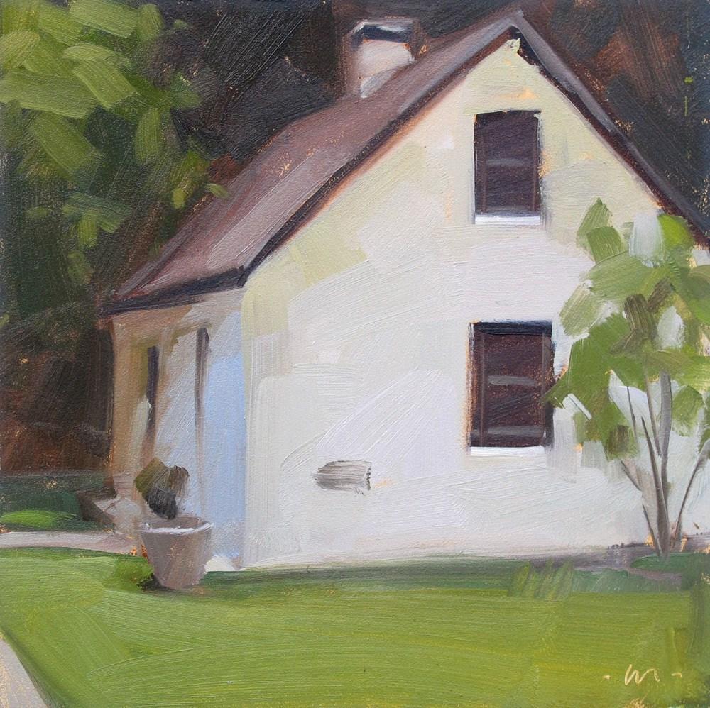 """Island Cabin"" original fine art by Carol Marine"