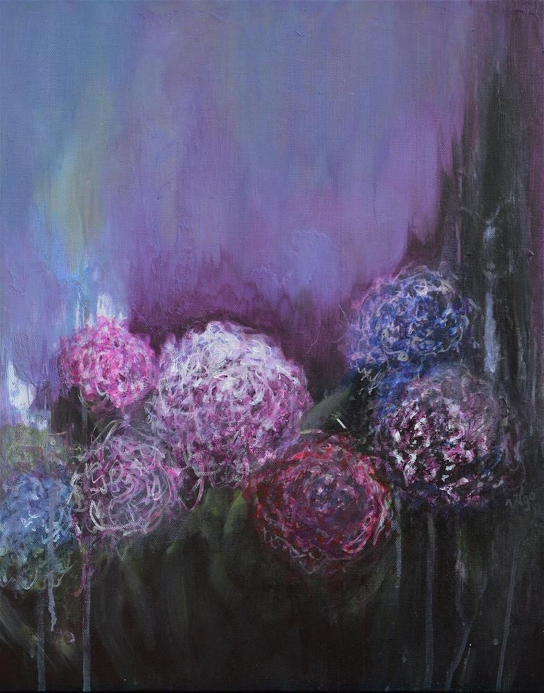 """Fleurs II"" original fine art by Vy Ngo"
