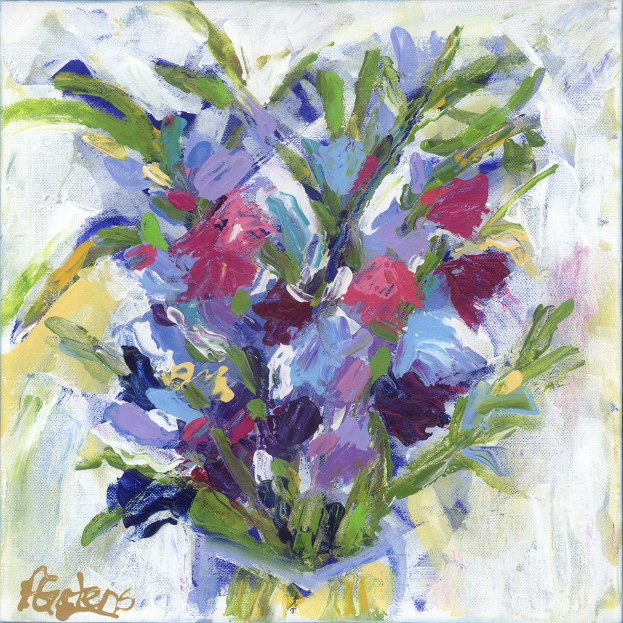 """Summer's Last Bouquet"" original fine art by Pamela Gatens"
