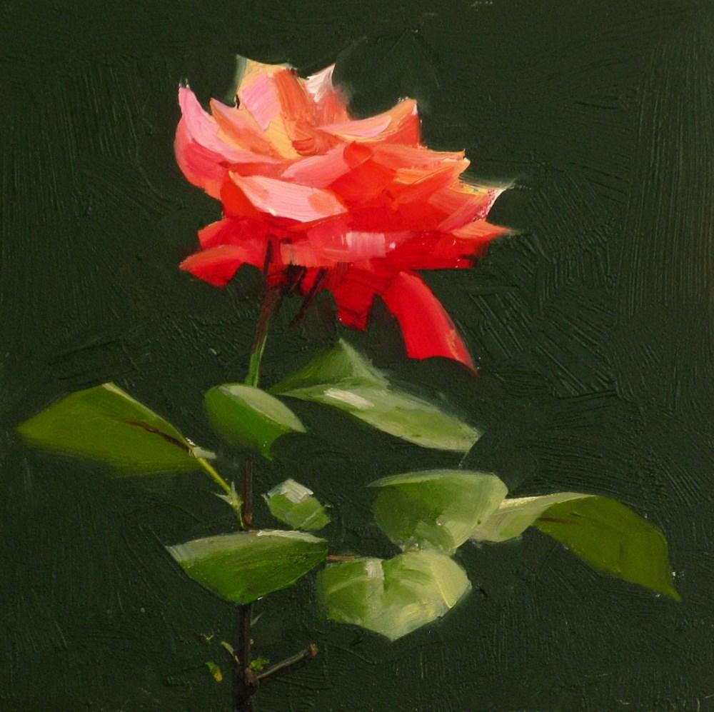 """Everlasting Rose"" original fine art by Qiang Huang"