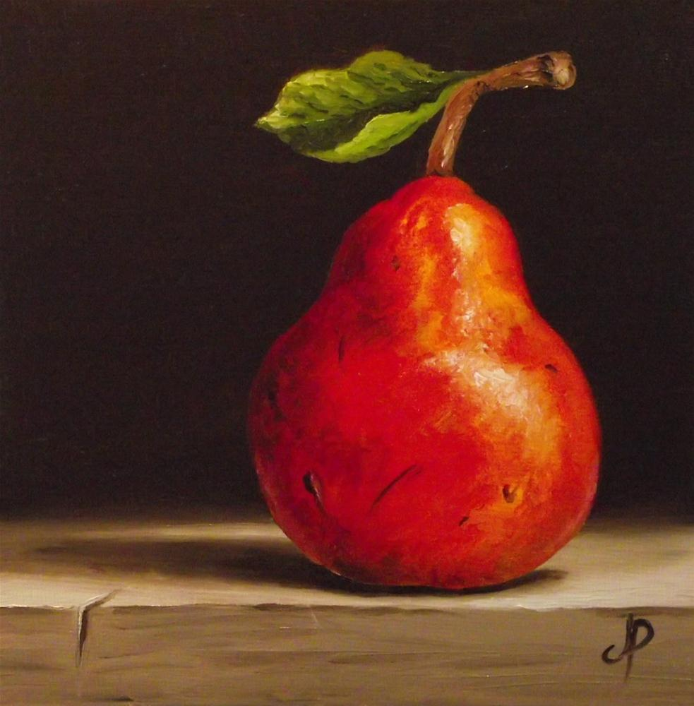 """Red Williams Pear"" original fine art by Jane Palmer"