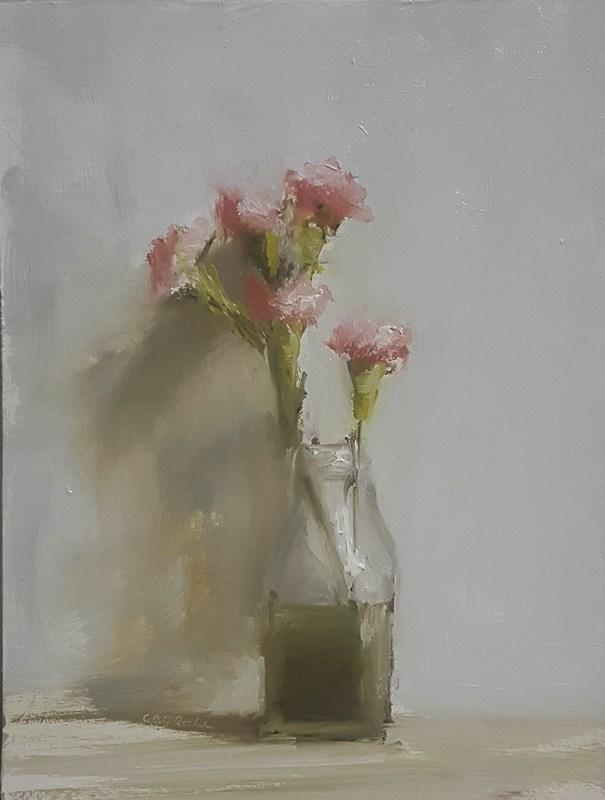 """""""Carnation Bottle"""" original fine art by Neil Carroll"""
