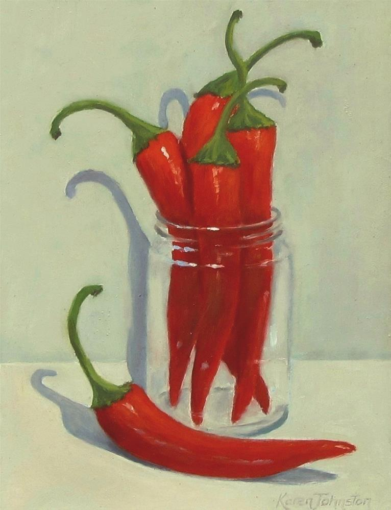"""Chilli Peppers"" original fine art by Karen Johnston"