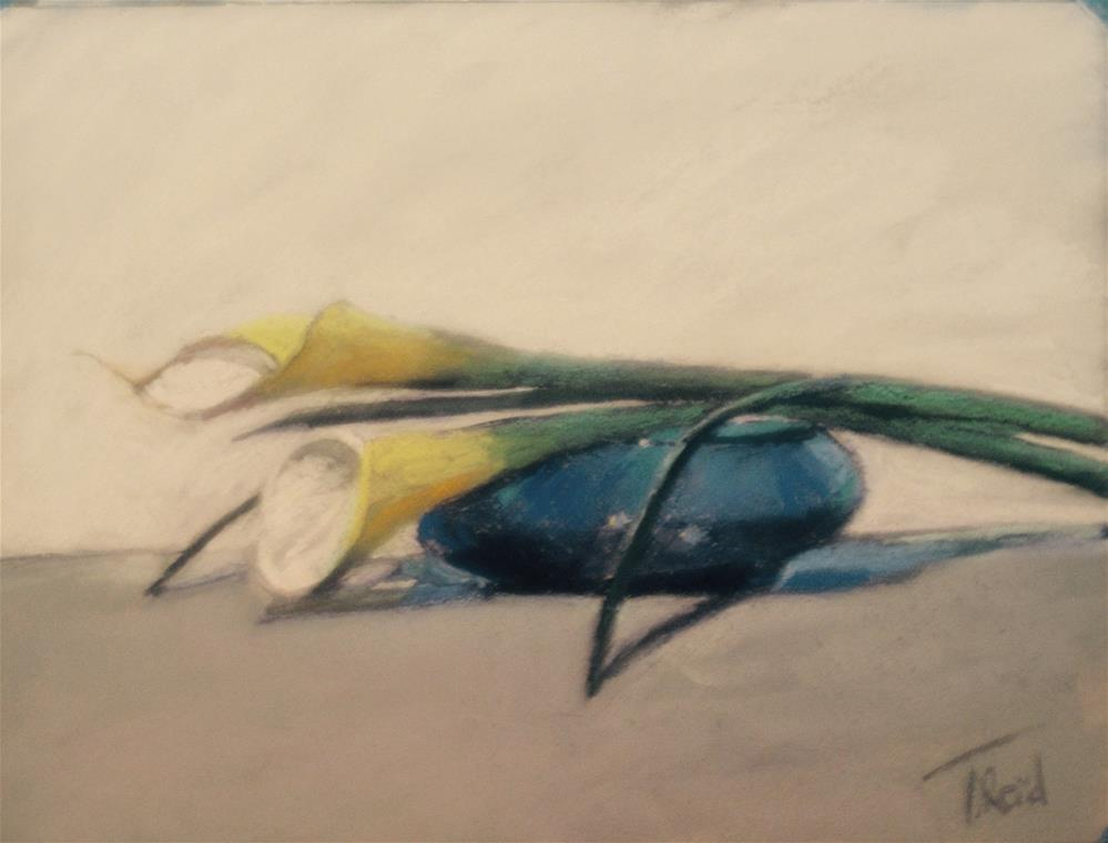 """Callas on Cobalt"" original fine art by Toby Reid"