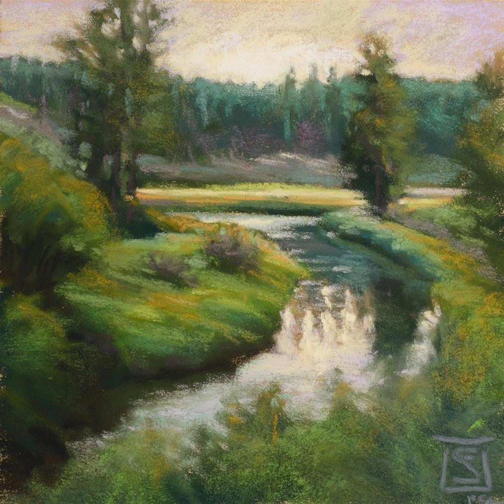 """Latah Dusk"" original fine art by Sheila Evans"