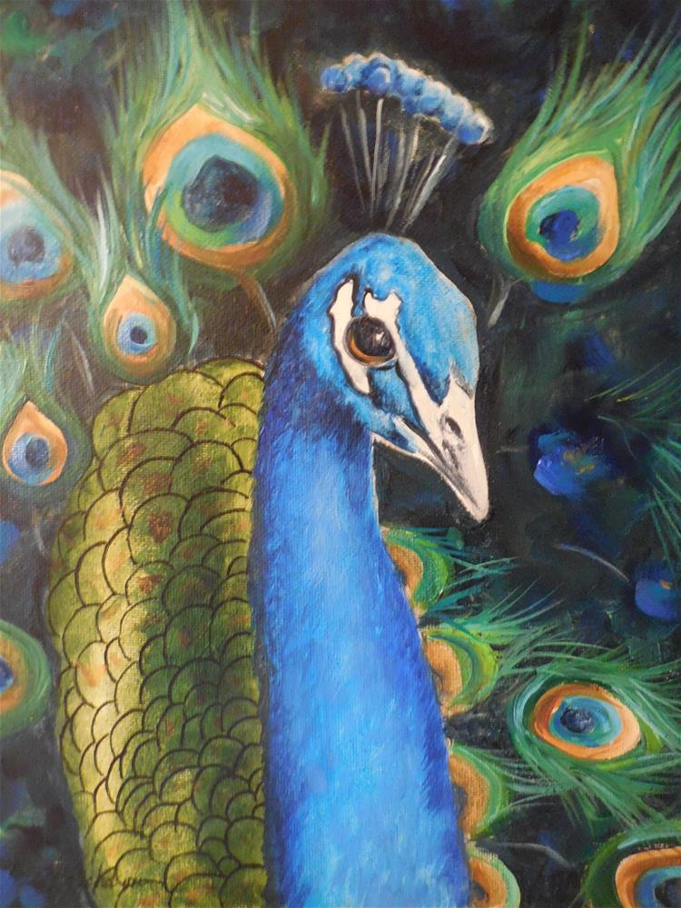 """Peacock"" original fine art by Terri Nicholson"