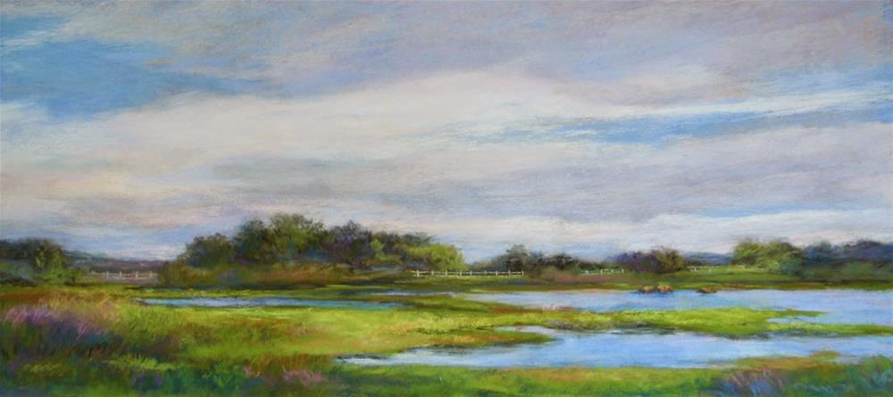 """Hammonasset Sky"" original fine art by Vikki Bouffard"