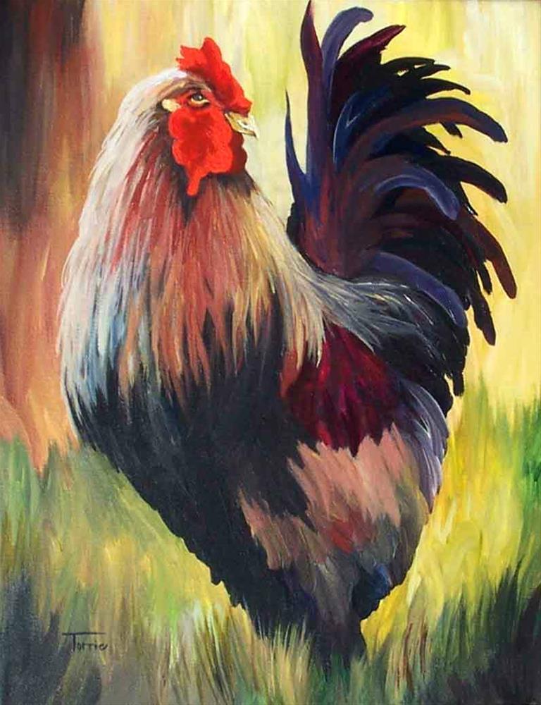"""Rooster III"" original fine art by Torrie Smiley"