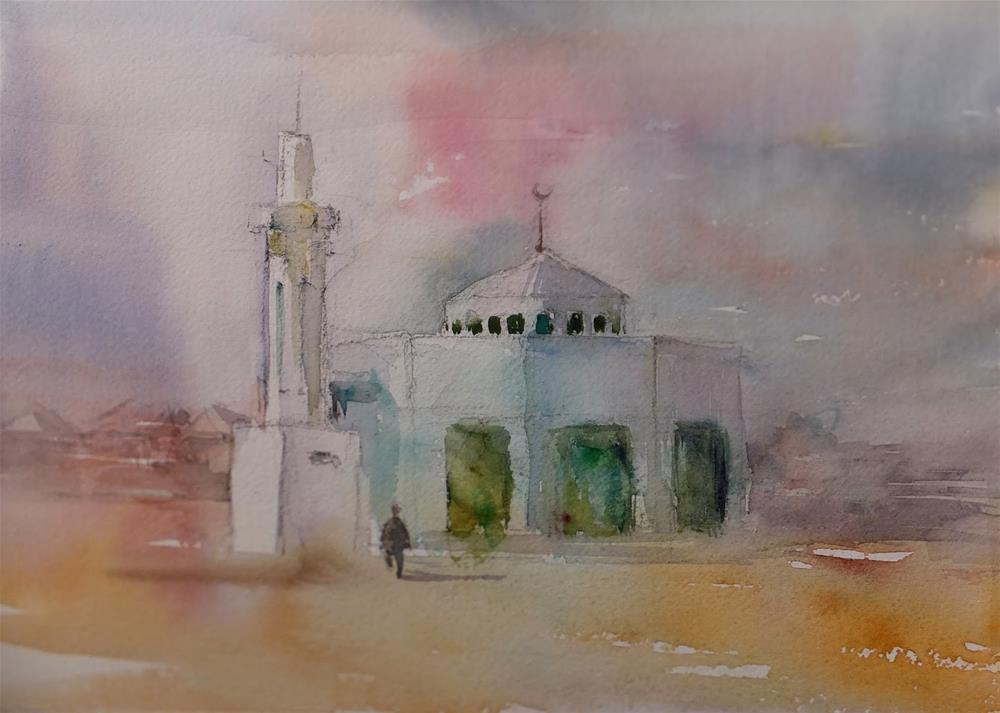 """""""Zakha area,Al Ain"""" original fine art by Midori Yoshino"""