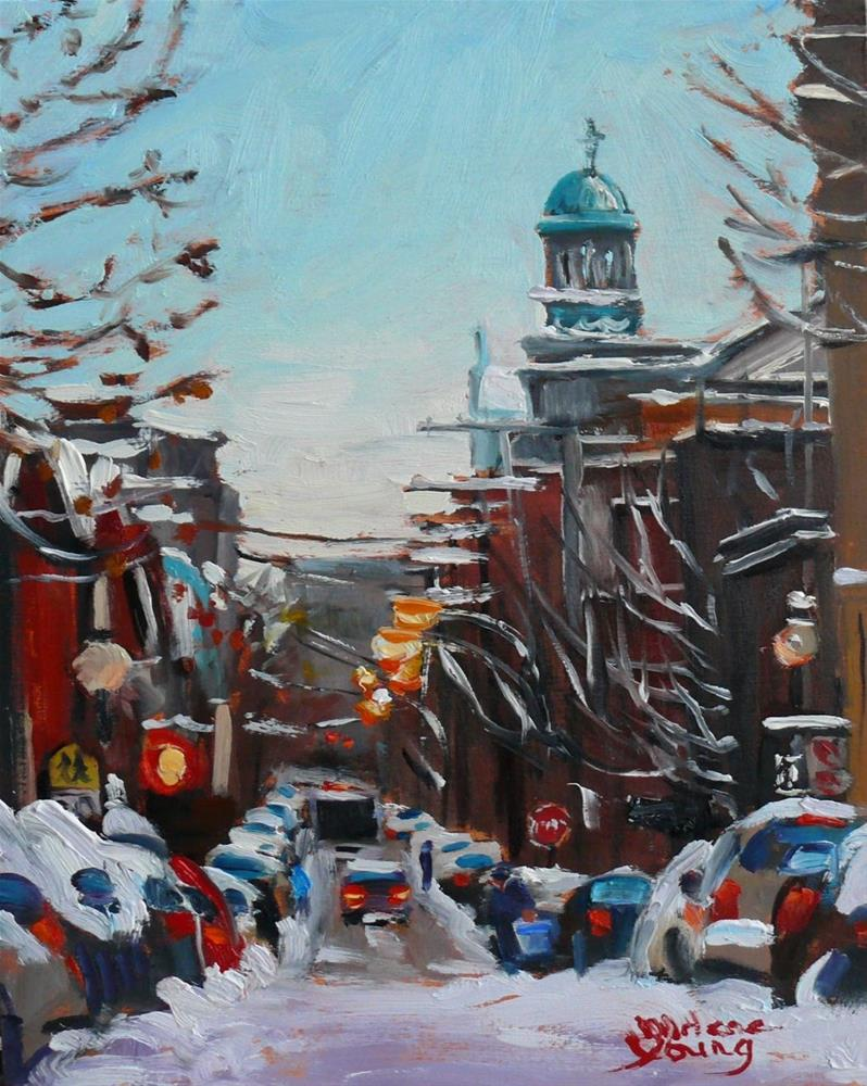 """Le Plateau Mont Royal"" original fine art by Darlene Young"