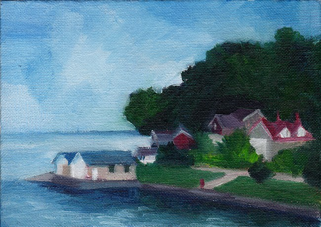"""From The Ferry"" original fine art by J M Needham"