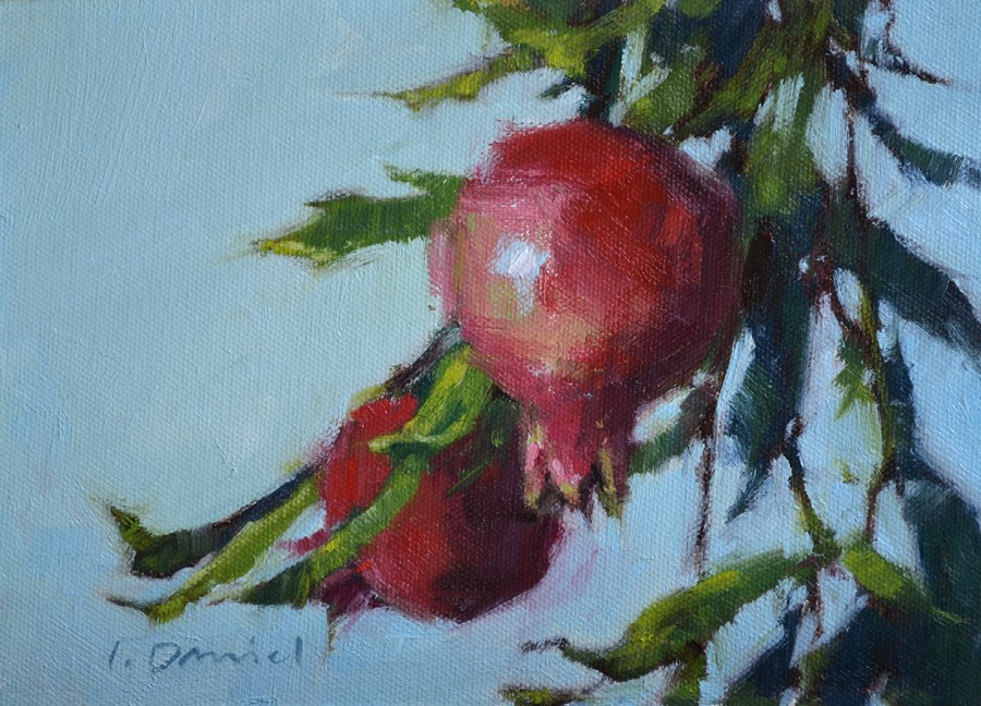 """Ruby Orbs"" original fine art by Laurel Daniel"