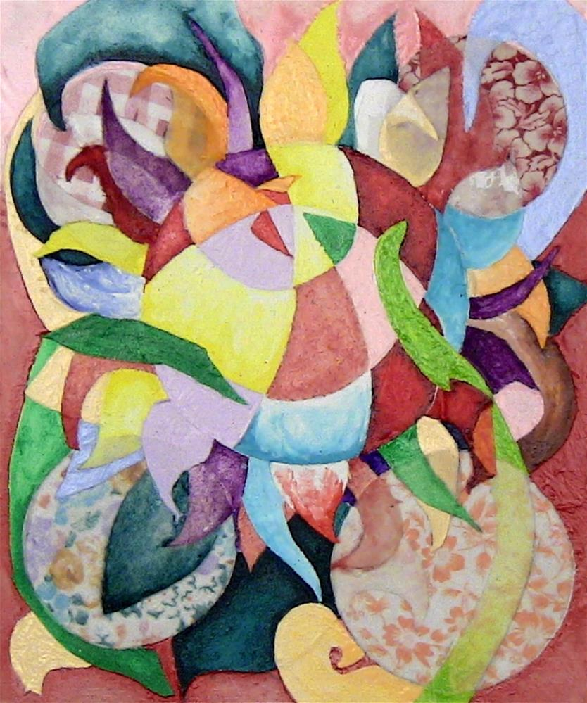 """Fantasy Bloom"" original fine art by Lisa Fulton"