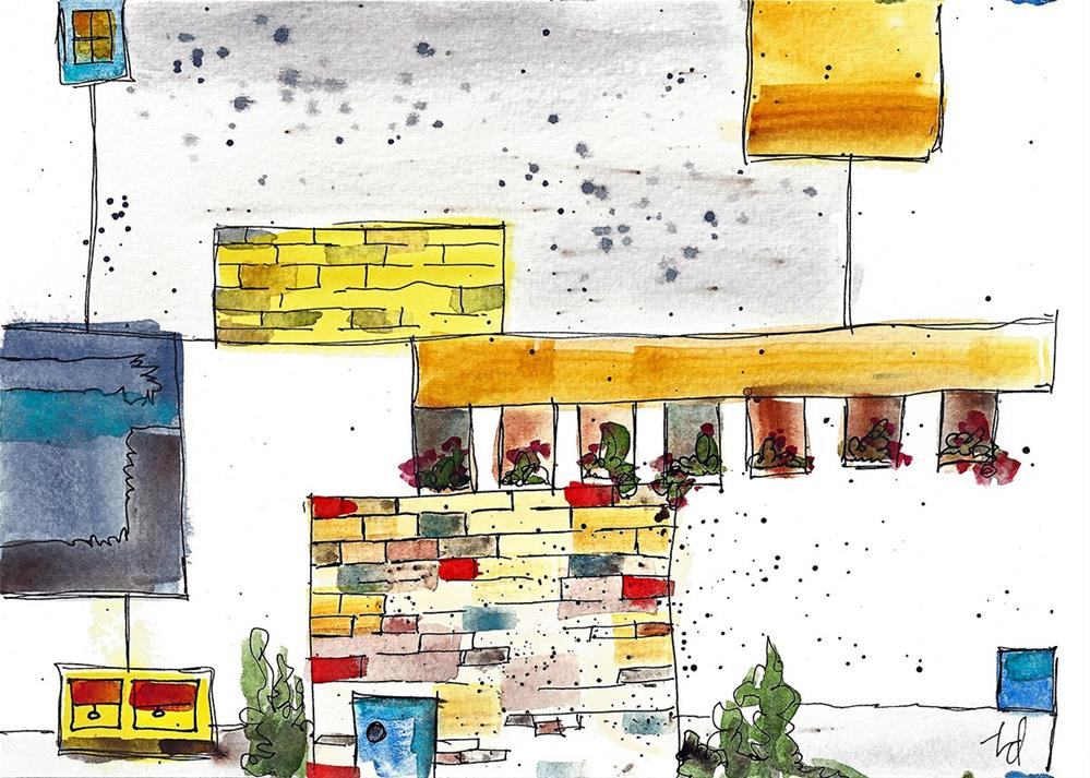 """Urban Imagination"" original fine art by Tonya Doughty"