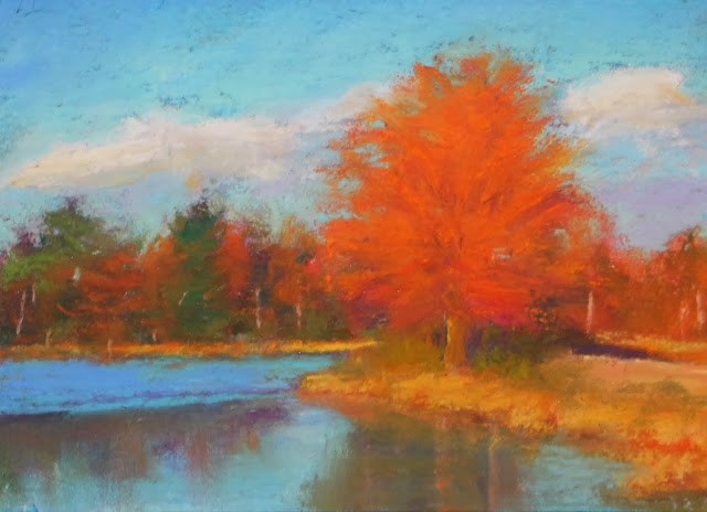 """Fall Reflections"" original fine art by Sharon Lewis"