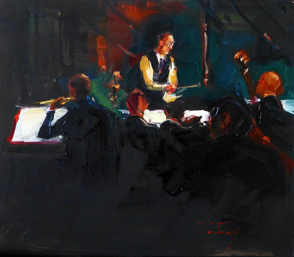 """concerts"" original fine art by Jurij Frey"