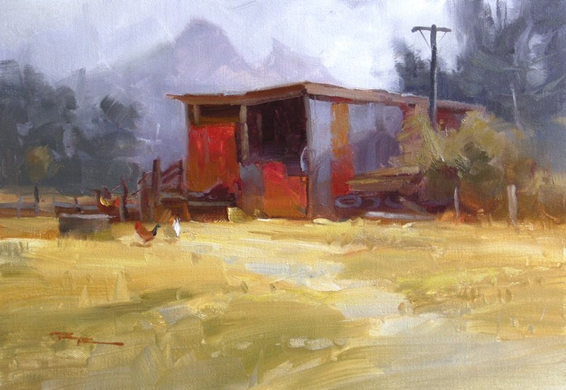 """Ramshackle"" original fine art by Richard Robinson"