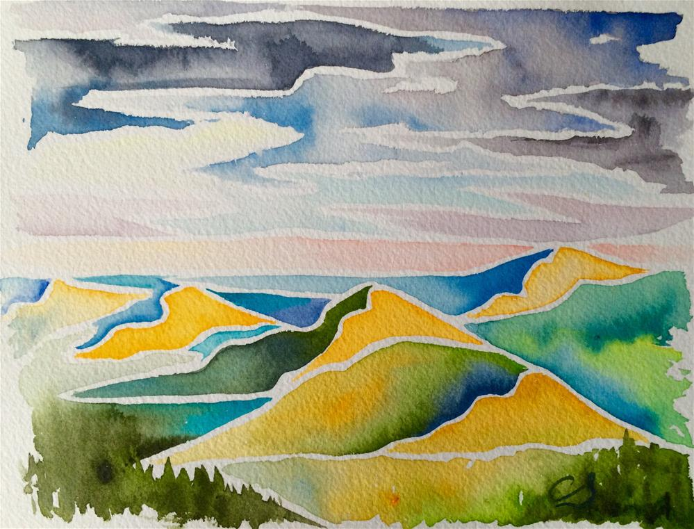 """Oregon Impression"" original fine art by Claudia Selene"