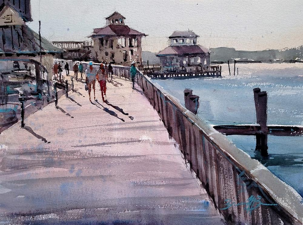 """On the Boardwalk"" original fine art by Brienne M Brown"