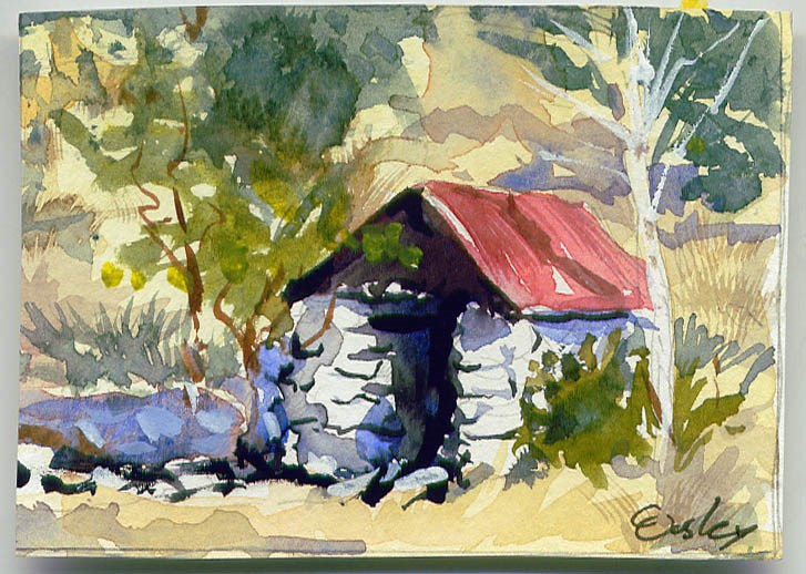 """Spring House"" original fine art by Chris Ousley"