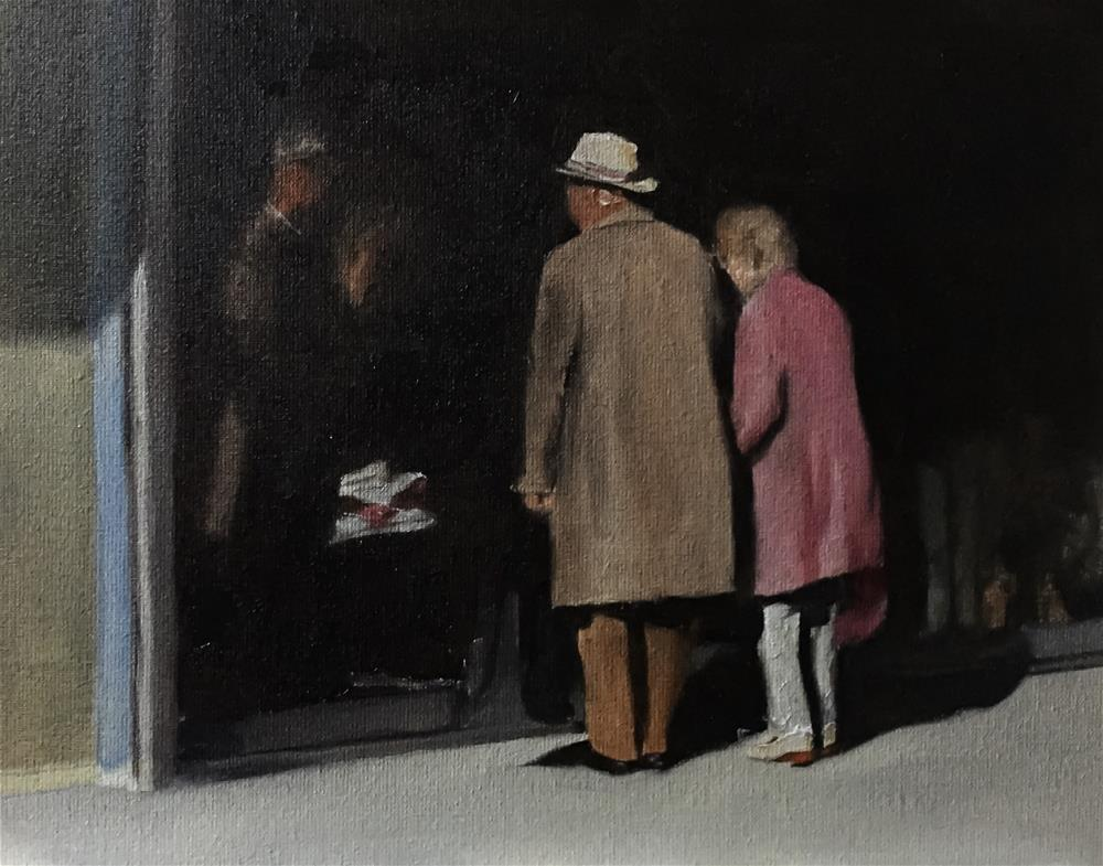 """Window Shopping"" original fine art by James Coates"