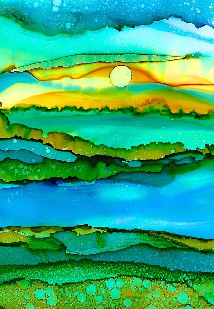 """""""A River Runs Through It"""" original fine art by Karen Wysopal"""
