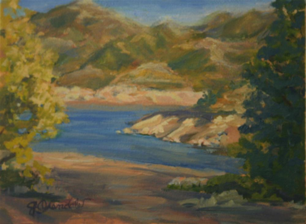 """Bartlett Lake"" original fine art by Jan Oxendale"