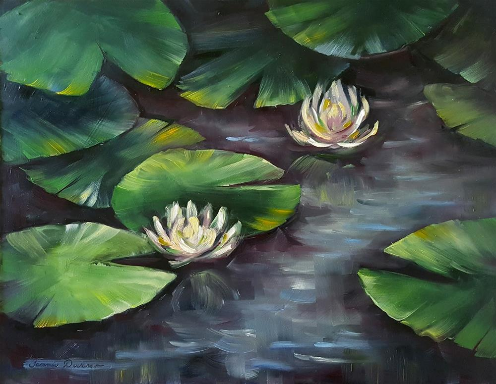 """Water Lilies"" original fine art by Tammie Dickerson"