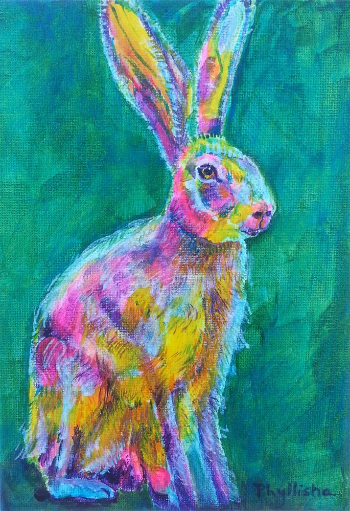 """Harold the Happy Hare"" original fine art by Phyllisha Hamrick"