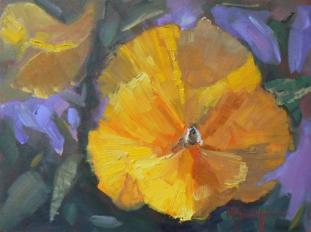"""Daily Painting, Oil, Original, Floral, Sunny Pansy"" original fine art by Carol Schiff"