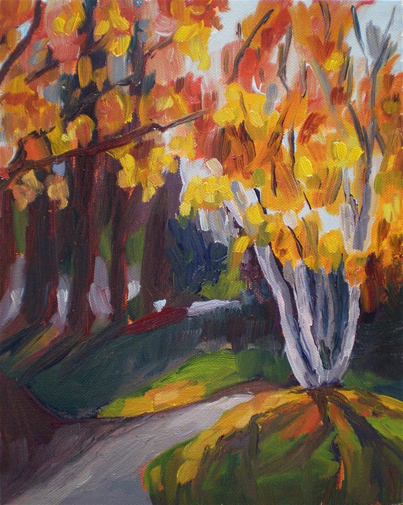 """Through the Trees"" original fine art by Loralee Chapleau"