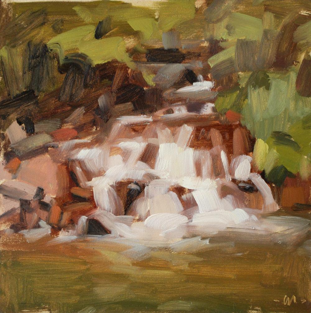"""Sedona Waterfall"" original fine art by Carol Marine"
