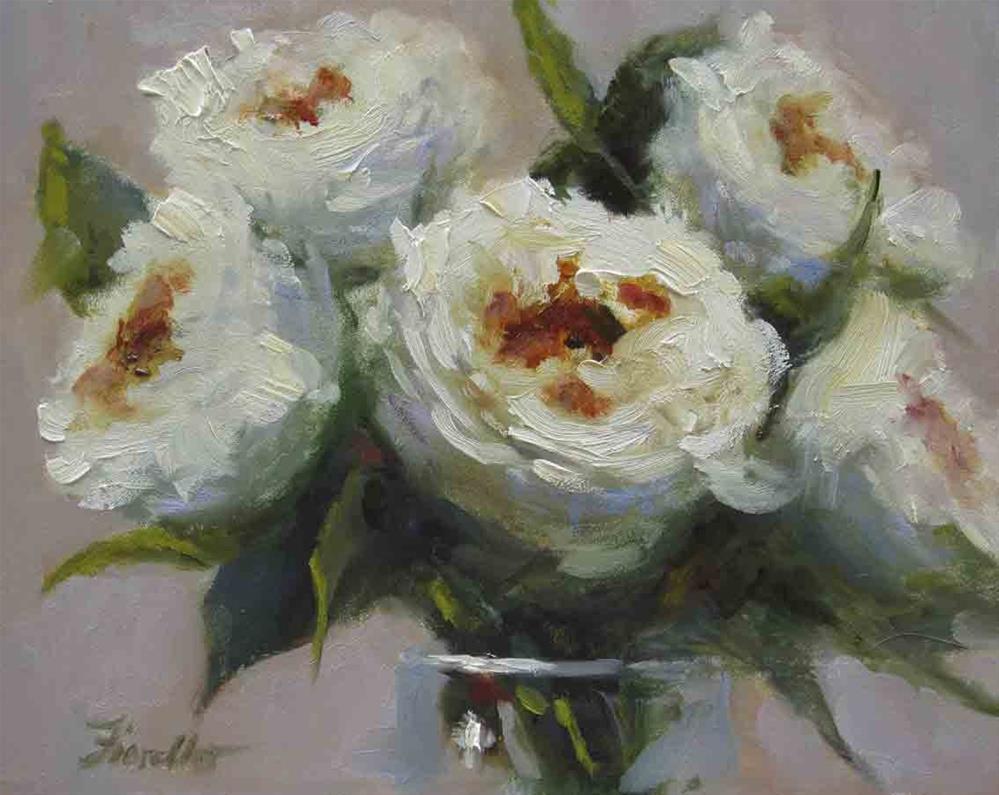 """""""White Blossoms"""" original fine art by Pat Fiorello"""