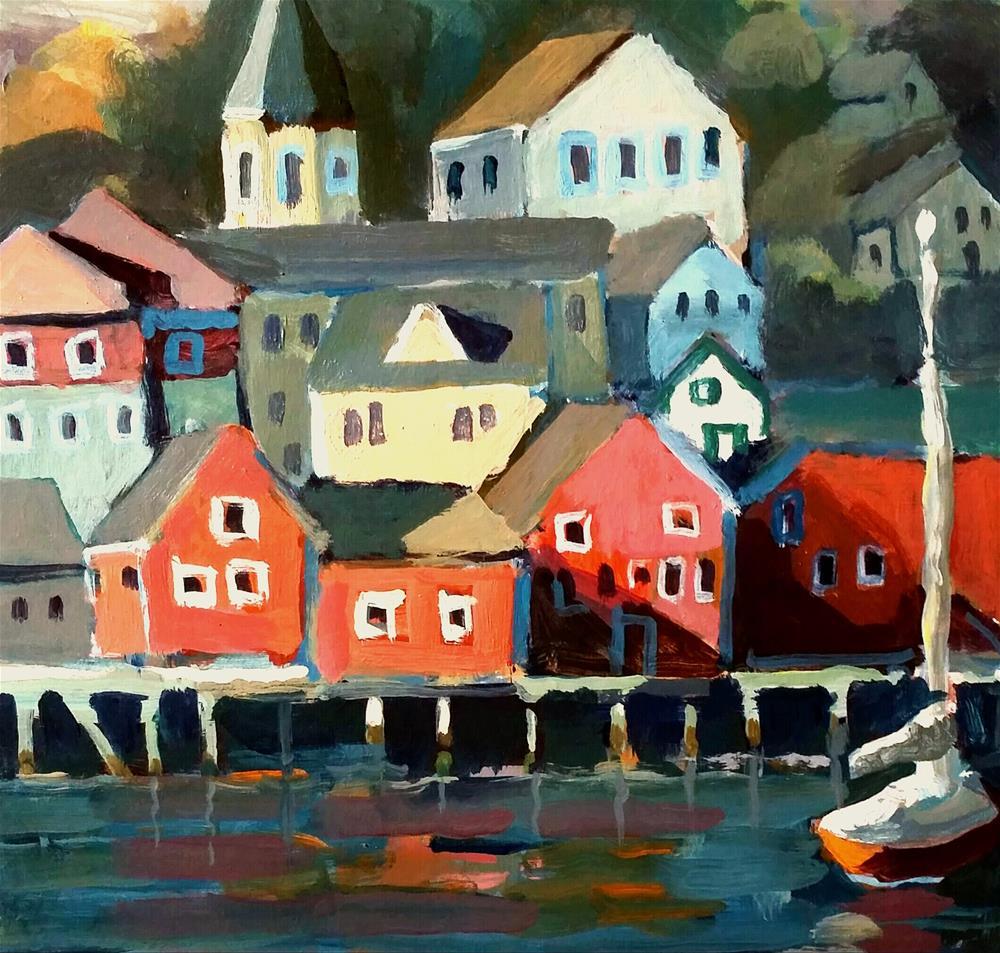 """Nova Scotia Coast"" original fine art by Liz Maynes"