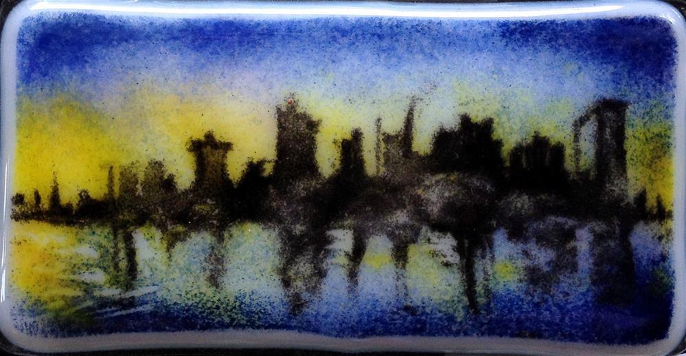 """City Night"" original fine art by Kristen Dukat"