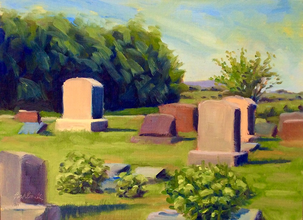 """Gone but not Forgotten en plein air"" original fine art by Daniel Fishback"