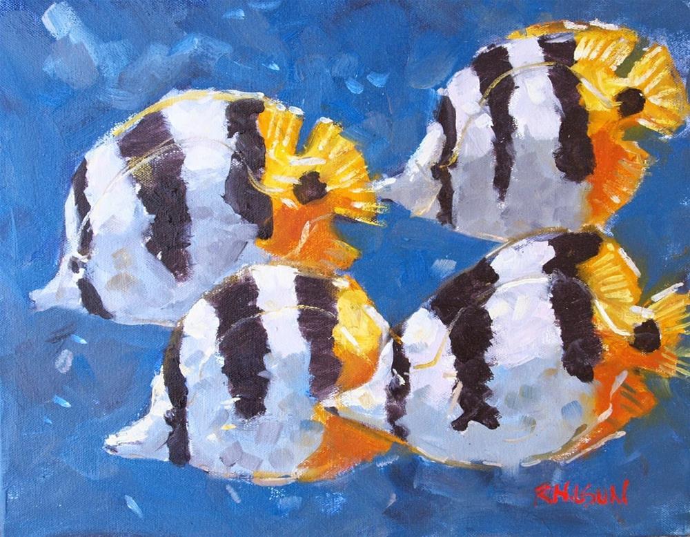 """Little Stripped Fish"" original fine art by Rick Nilson"