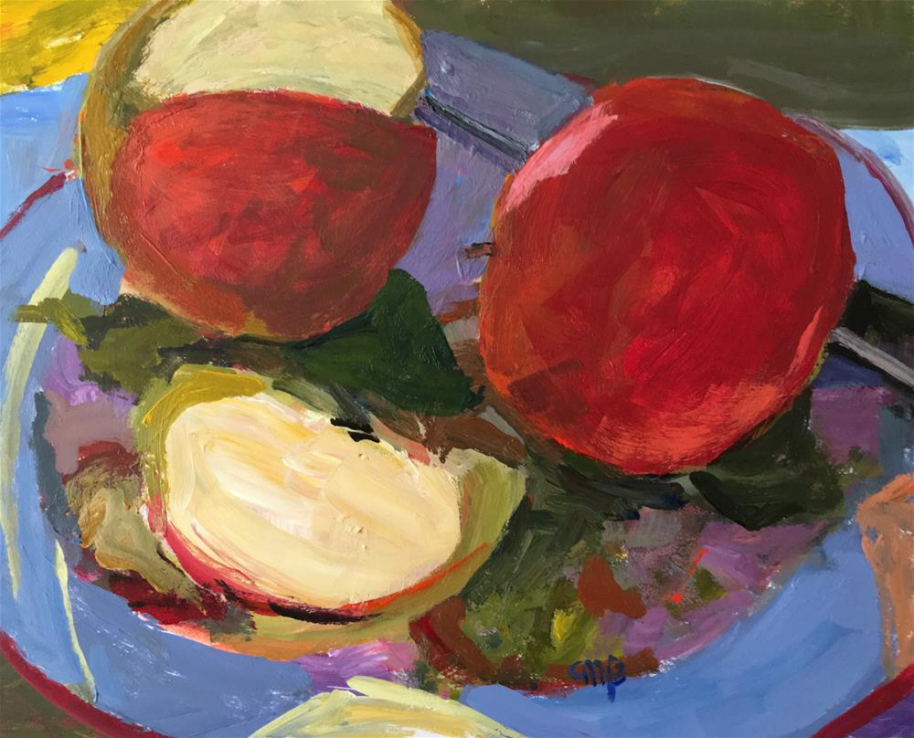"""Apple Still life"" original fine art by Christine Parker"