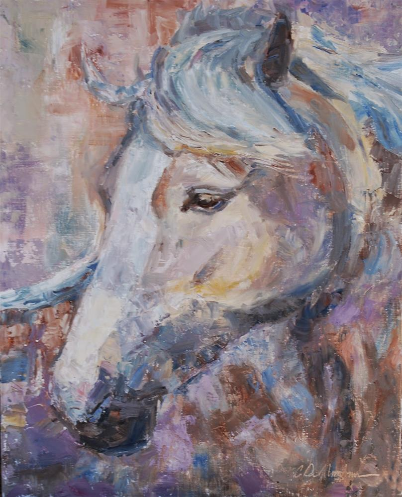 """Horse Painting, Palomino Painting, Original oil by Carol DeMumbrum"" original fine art by Carol DeMumbrum"