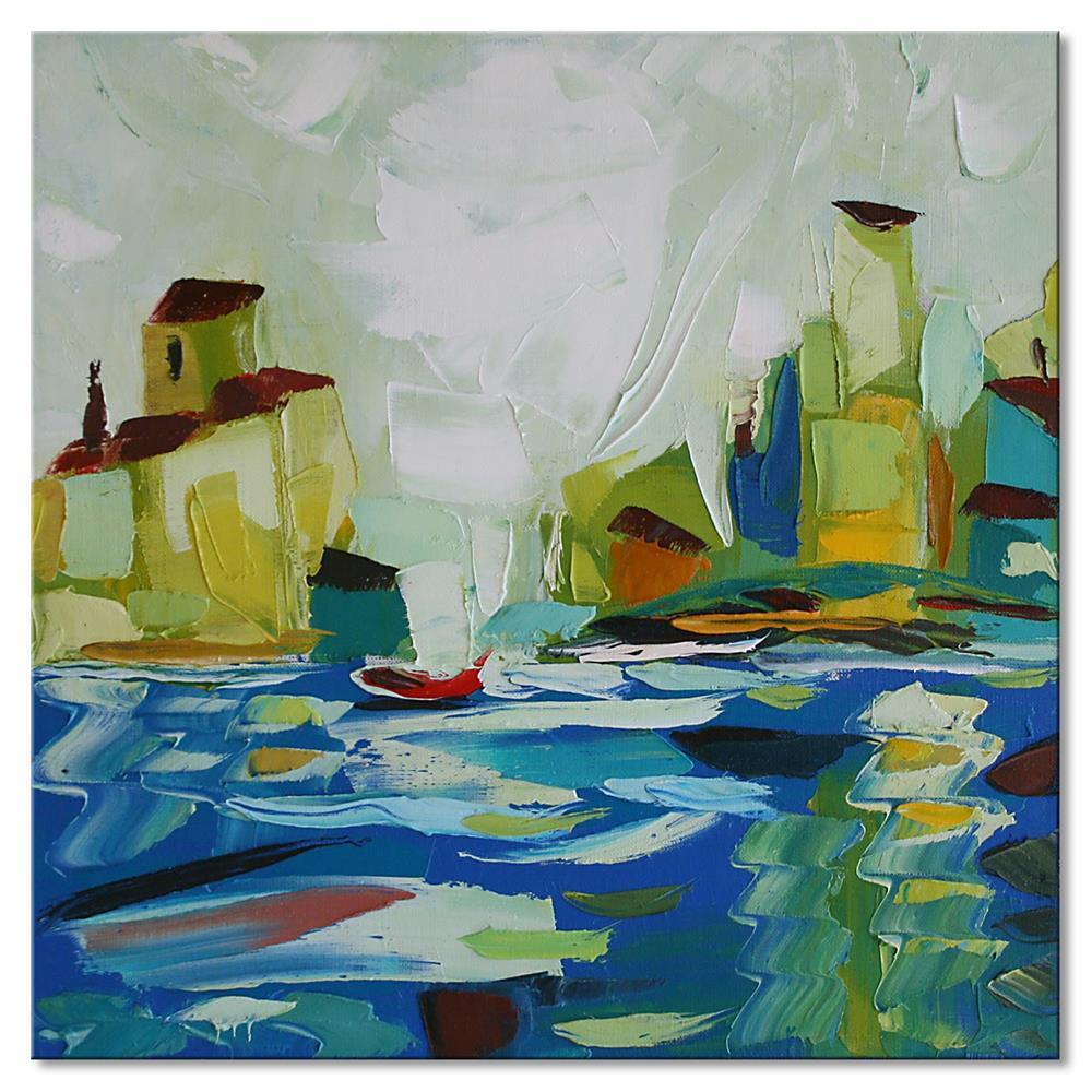 """The old pier"" original fine art by Elena Lunetskaya"