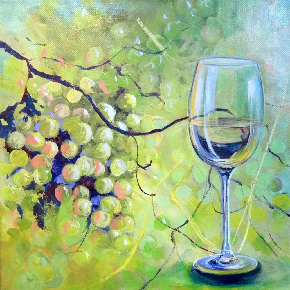 """6064 - Grapes with Benefits"" original fine art by Sea Dean"