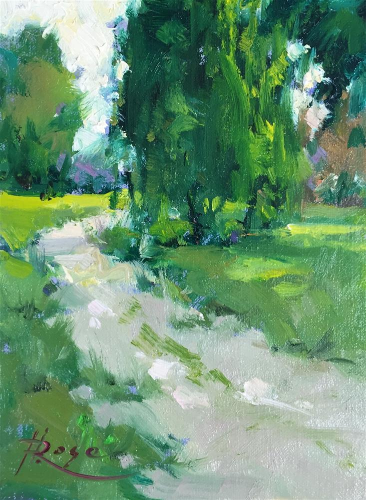 """Planting field path"" original fine art by Howard Rose"