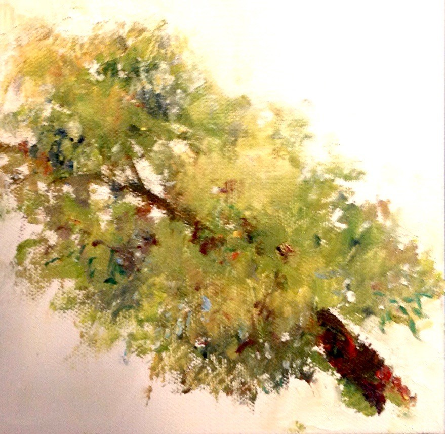 """Bent"" original fine art by Judy Usavage"