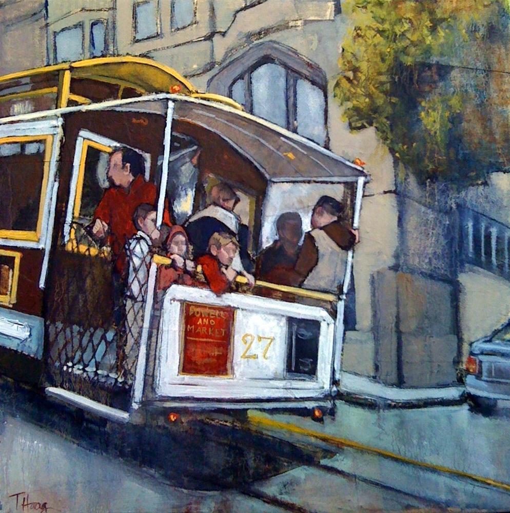 """""""Powell & Market"""" original fine art by Teresa Haag"""