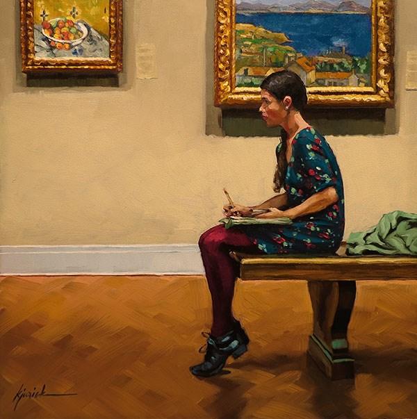 """""""An Artist on the Side"""" original fine art by Karin Jurick"""