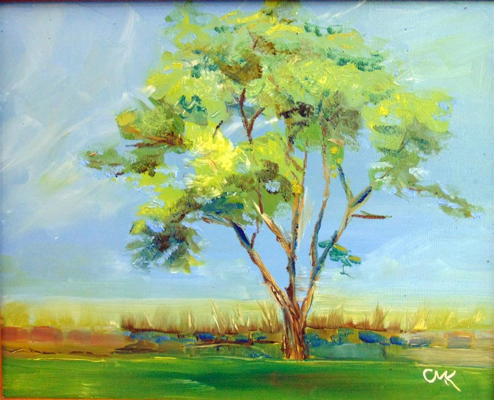 """Tree on the Ramparts"" original fine art by Catherine Kauffman"