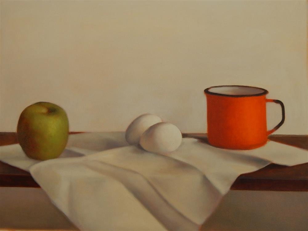"""Still Life in Green and Orange"" original fine art by Megan Schembre"